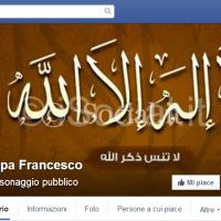 Copertina Facebook Papa Francesco hacker