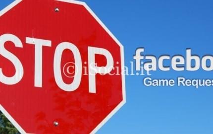 fermare richieste giochi facebook