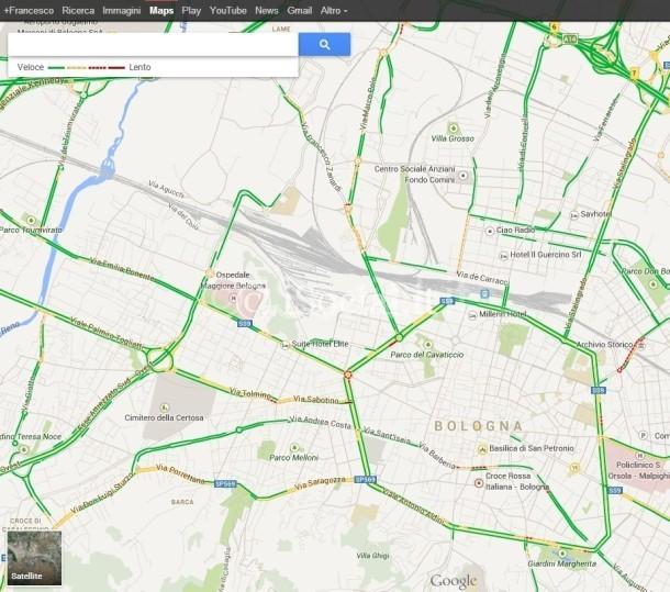 google Maps: traffic