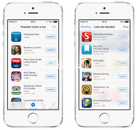iOS 7 App Store Le novità di iOS 7