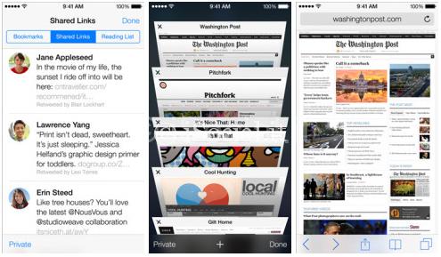 iOS 7  iPhone Safari