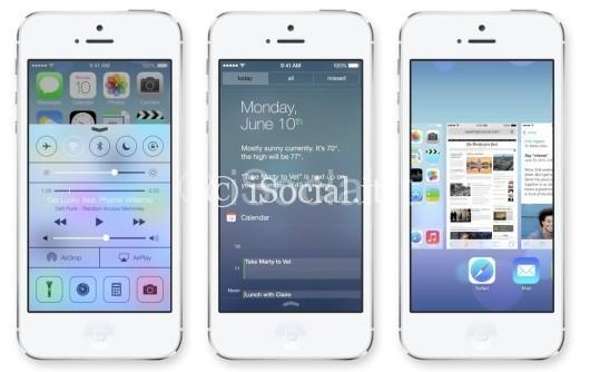 iOS 7 iPhone layout