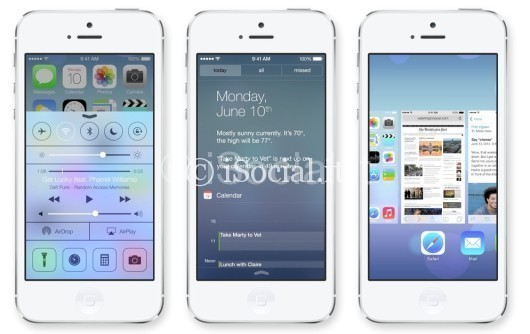 iOS 7 iPhone layout