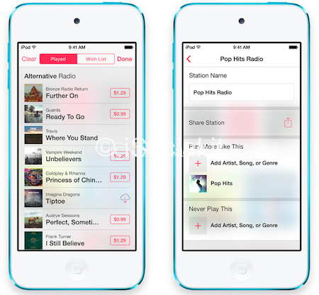 iOS 7 iTunes Radio Le novità di iOS 7