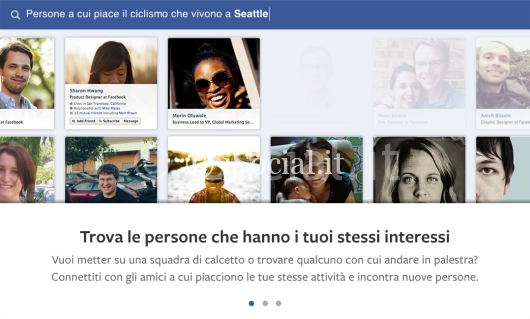 iSpazio facebook graph search