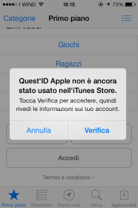 id apple senza carta di credito