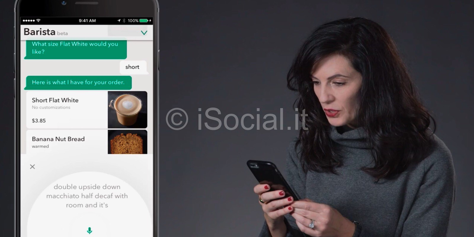 Starbucks app voice