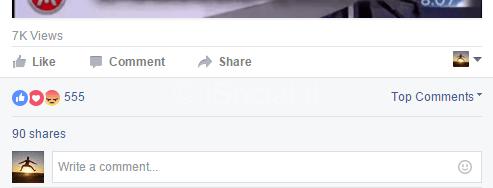riepilogo reazioni facebook