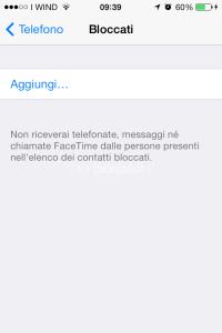 ios7_blocco chiamate sms