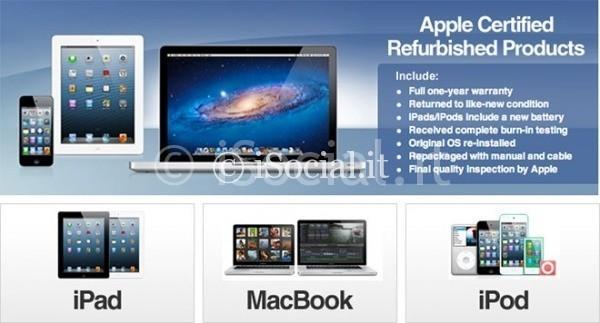 I prodotti ricondizionati di apple