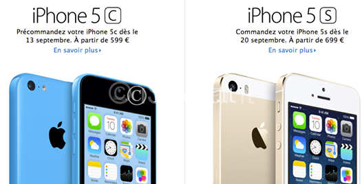 iPhone 5 s Frankreich