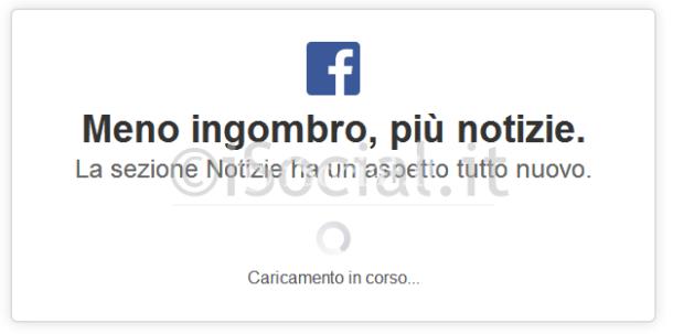 nuovo facebook popup