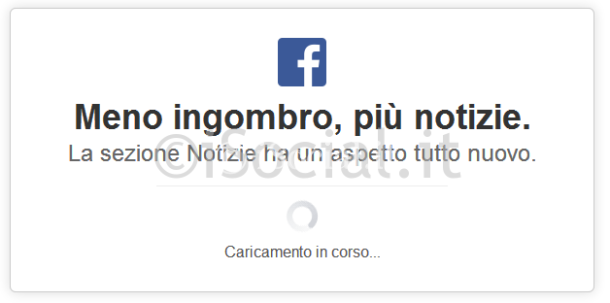 nuovo facebook popup