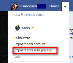 accesso privacy facebook