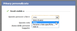 privacy facebook - solo amici-