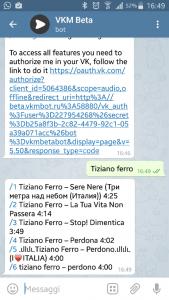 Search free music telegram