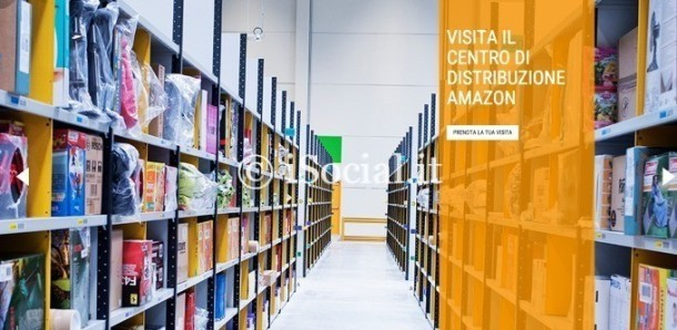 visita guidata gratis centro distribuzioni amazon
