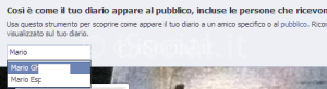 visualizza come amico facebook